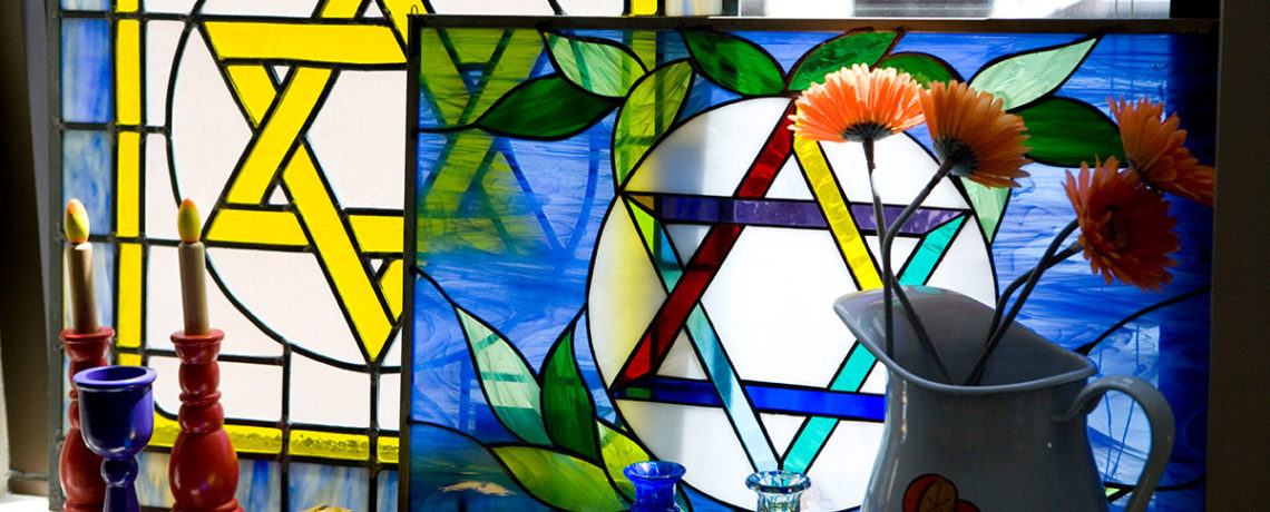 2-Still-Life-of-Stained-Glass-Stars-of-David